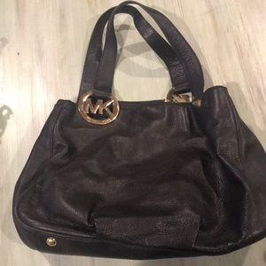 Black Michael Kors Leather Handbag